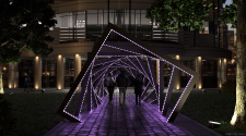 Тоннель с подсветкой