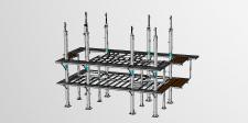 Силовой каркас эстакады модуля очистки