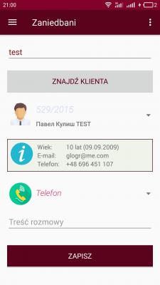Приложение для сотрудников фирмы Apatris (PL)