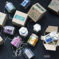 Разработка концепции коробки и декор под свечи
