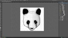 Векторное изображение панды