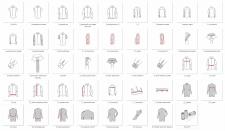 Іконки для сайту по індивідуальному пошиву одягу