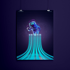 Poster Typography Galaxy