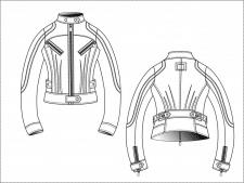 технический рисунок одежды в векторе
