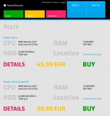 Дизайн сайта serverline.pro