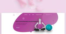 Дизайн сайта для студии йоги.