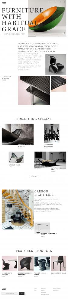 Интернет-магазин дизайнерской мебели из карбона