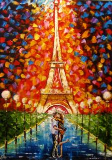 Ночная романтика Парижа