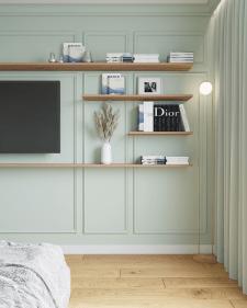 Дизайн проект квартиры- спальня,35 кв.м.Париж.