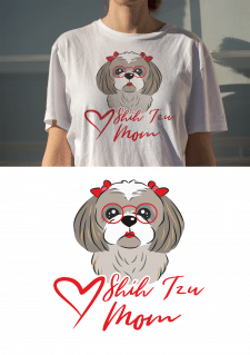 T-Shirt Design Shih Tzu MOM