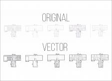 Отрисовка в вектор схем здания по требованиям