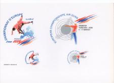 Логотипы чемпионатов Европы по борьбе и стрельбе