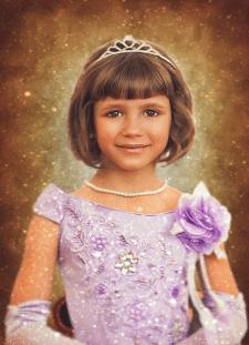 Обработка детского портрета