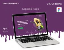Landing page подарочных наборов с экз. фруктами