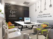 Дизайн интерьера комнаты отдыха персонала