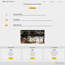 Product lending page