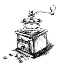 Рисунок кофемолки для упаковки