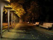 Проект модульного освітлення парку