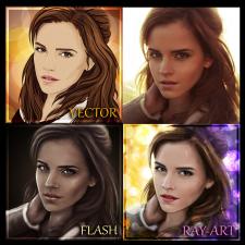 портрет по фотографии в разных стилях