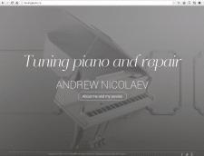 Сайт для специалиста по реконструкции пианино