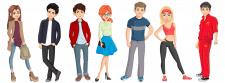 Персонажи для интернет проекта