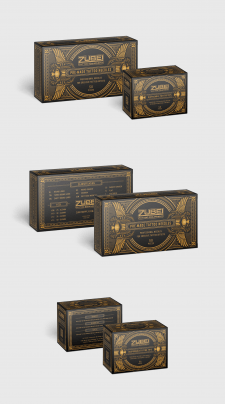 Дизайн-концепт упаковки для тату игл Zubei