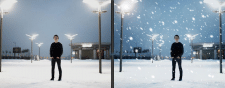 Эффект снега