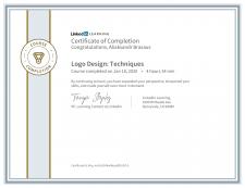 Сертификат Linkedin Logo Design Techniques