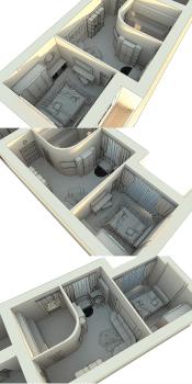 3D макет размещения мебели 2