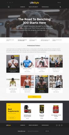 Дизайн сайта спортивная тематика