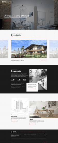 Дизайн корпоративного сайта для студии дизайна