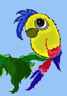 отрисовка попугай