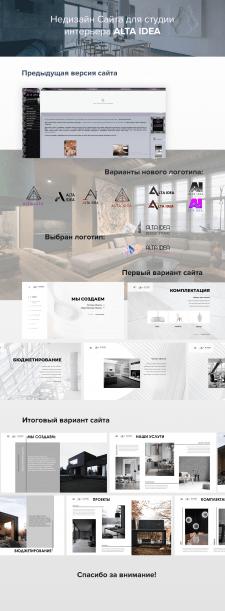 Редизайн сайта интерьер студии