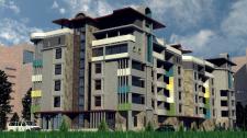 Визуализация здания.