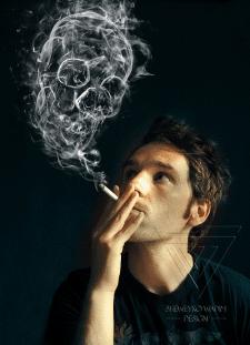 Коллаж с дымом