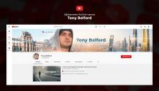 Оформление ютуб-канала «Tony Belford»