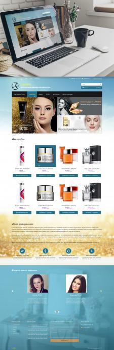 Дизайн сайта интернет-магазина косметики