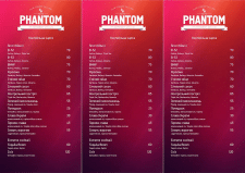 Menu PHANTOM