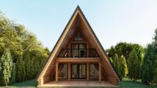 Эскизный проэкт шатерного дома с сруба