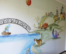 настенной роспись в детской комнате