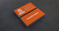 Дизайн визитки для пиццерии.
