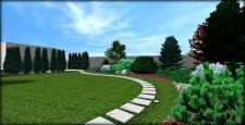 Стильный и лаконичный сад №6