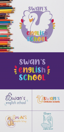 Logo for English school