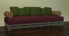 3Д диван стальной каркас