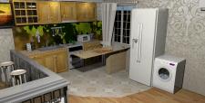Кухня студія 51кв.м2 Вид кухня