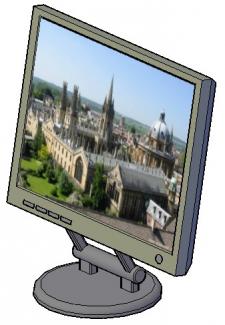 ЖК монитор в 3D (смоделирован в AutoCad)