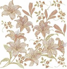 полотно сборных лилий