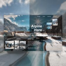 Веб-дизайн для отеля в горах