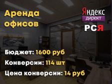 Аренда офисов Поиск+РСЯ