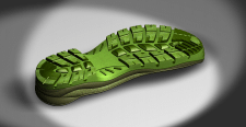 3D модель чоловічої підошви(PU+TPU)